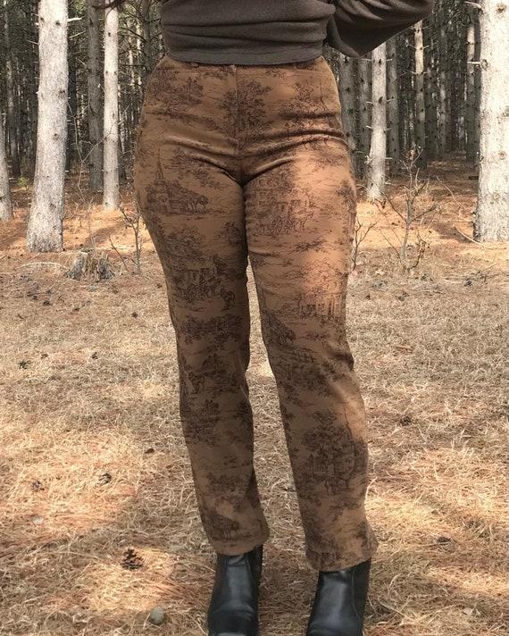 1990's Printed Pants - image 2
