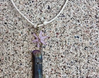 Titanium Quarts Stone Necklace