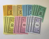 Assorted Monopoly Money for Crafts and Junk Journal Ephemera Lot 28 pcs