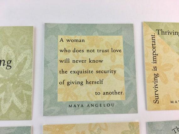 Junk Journal Ephemera Maya Angelo Quote Cards Scrapbooking Supplies