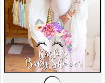 Unicorn Baby Shower/Birthday Custom Snapchat Geofilter