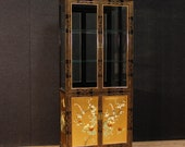 French lacquered, gilded and painted chinoiserie display cabinet