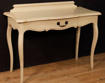 Italian console table in painted wood