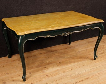 Venetian table in lacquered wood