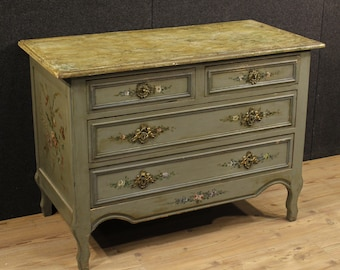 French lacquered and painted dresser