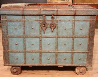 Antique Indian trunk from 19th century