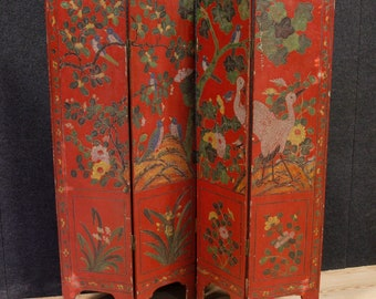 French lacquered chinoiserie screen