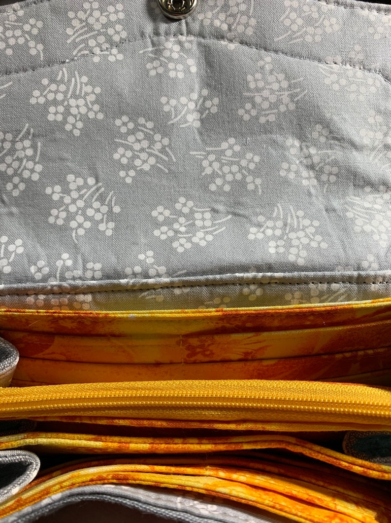 Silver Linings Grey And Yellow Clutch Wallet