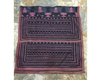 Vintage tribal Red Dao embroidery piece in HaGiang province,north of Vietnam