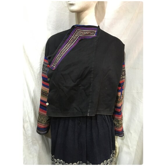 Vintage tribal RedDao women tunic in Bac Son area,Lang Son province in the north of Vietnam