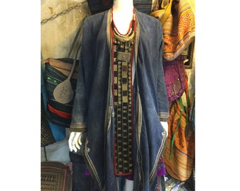 Vintage tribal Red Dao women necktie in Sapa area,LaoCai province in the north of Vietnam