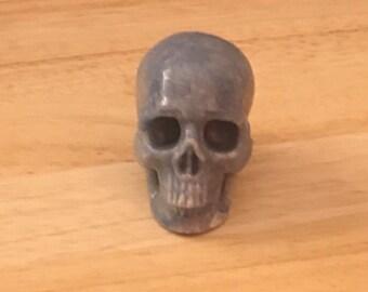 Blue Aventurine Skull