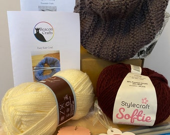 Learn to knit kit, knit your own cowl/snood with full guidance and support.
