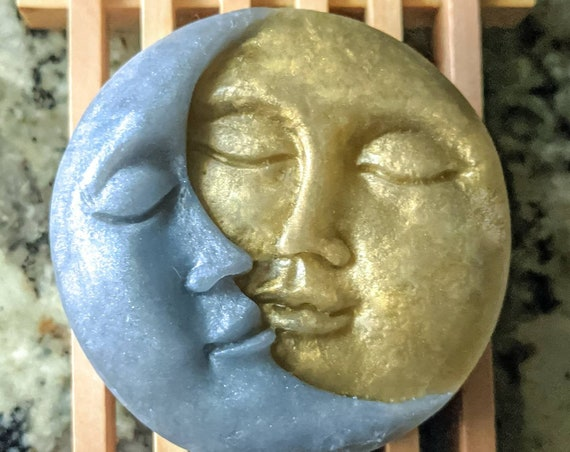 Sun & Moon Soap / Star Crossed Lovers - Organic Oils / Gluten Free / Vegan / Soy Free / Uncented Available / Skin Loving Artisan Soap Bars