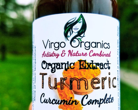 Organic Turmeric Extract / Curcumin Complete / Natural Anti-inflammatory and Pain Reliever / Migraine Relief /Gluten Free / Non-GMO