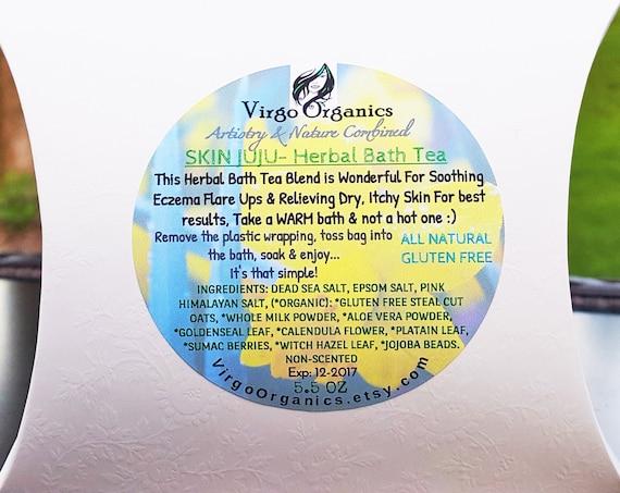 Eczema relief / Organic Herbal Bath Tea / Unscented / Oatmeal Bath / Gluten Free / Moisturizing / Soft, Healthy Skin