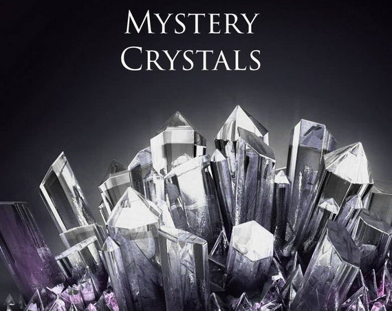 Mystery Grab Bag! Mystery Box of Crystals, Candles, Aromatherapy, Bath Salts, Salenite, Palo Santo, Sage, Jewelry, Spheres, & Special Gifts!