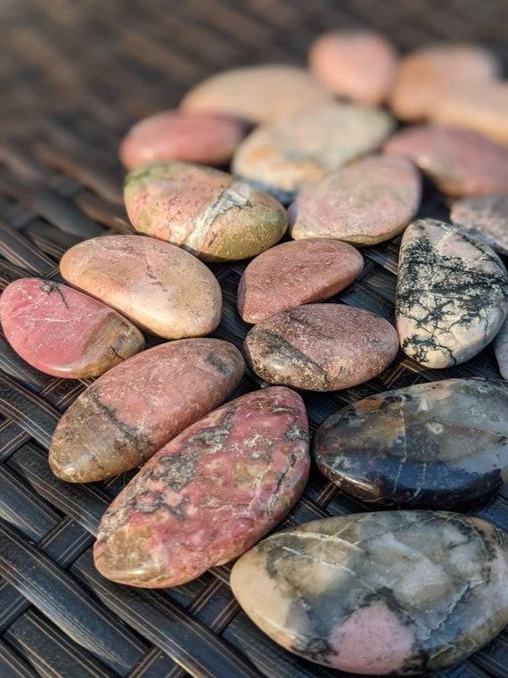 Rhodonite Palm Stone / Reiki / Meditation Stone / Heart Chakra / Crystal Healing / Love Stone / Self Love Crystal /  Emotional Healing