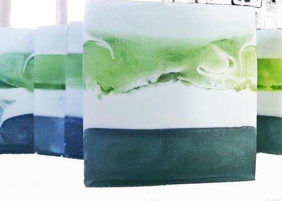 Eucalyptus Green & Dreamy Soap / Phthalate Free / Celtic Sea Salt / French Green Clay / Organic Oils / Gluten Free / Vegan / Soy Free