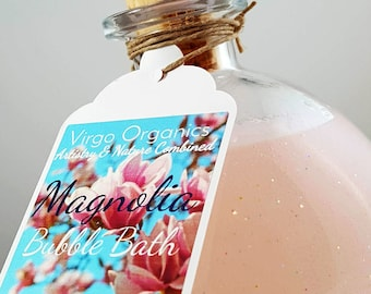 Magnolia Bubble Bath! / Gluten Free / Organic / Healthy Bubbles!