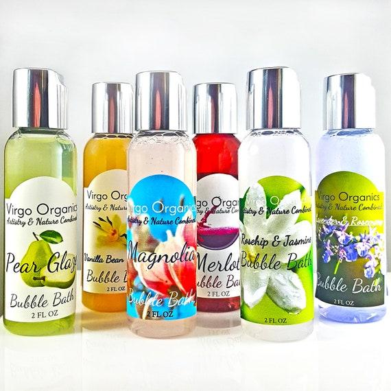 Bubble Bath Sample Set / Gluten Free / All Natural / Organic Essential Oils