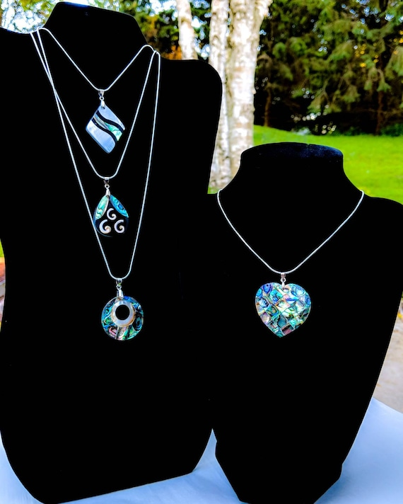 Genuine Abalone Shell Necklaces / Different Chain Options / Different Styles Available / Abalone Calms Anxiety & Stress