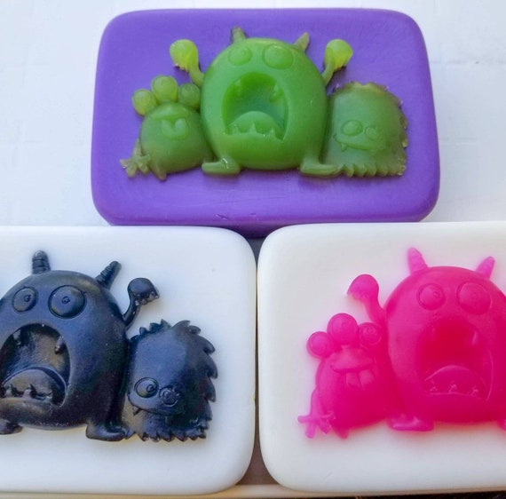 Monster Soap! / Organic Oils / Phthalate Free / Gluten Free / Vegan / Choose the Scent & Colors / Unscented Available / SO MUCH FUN!