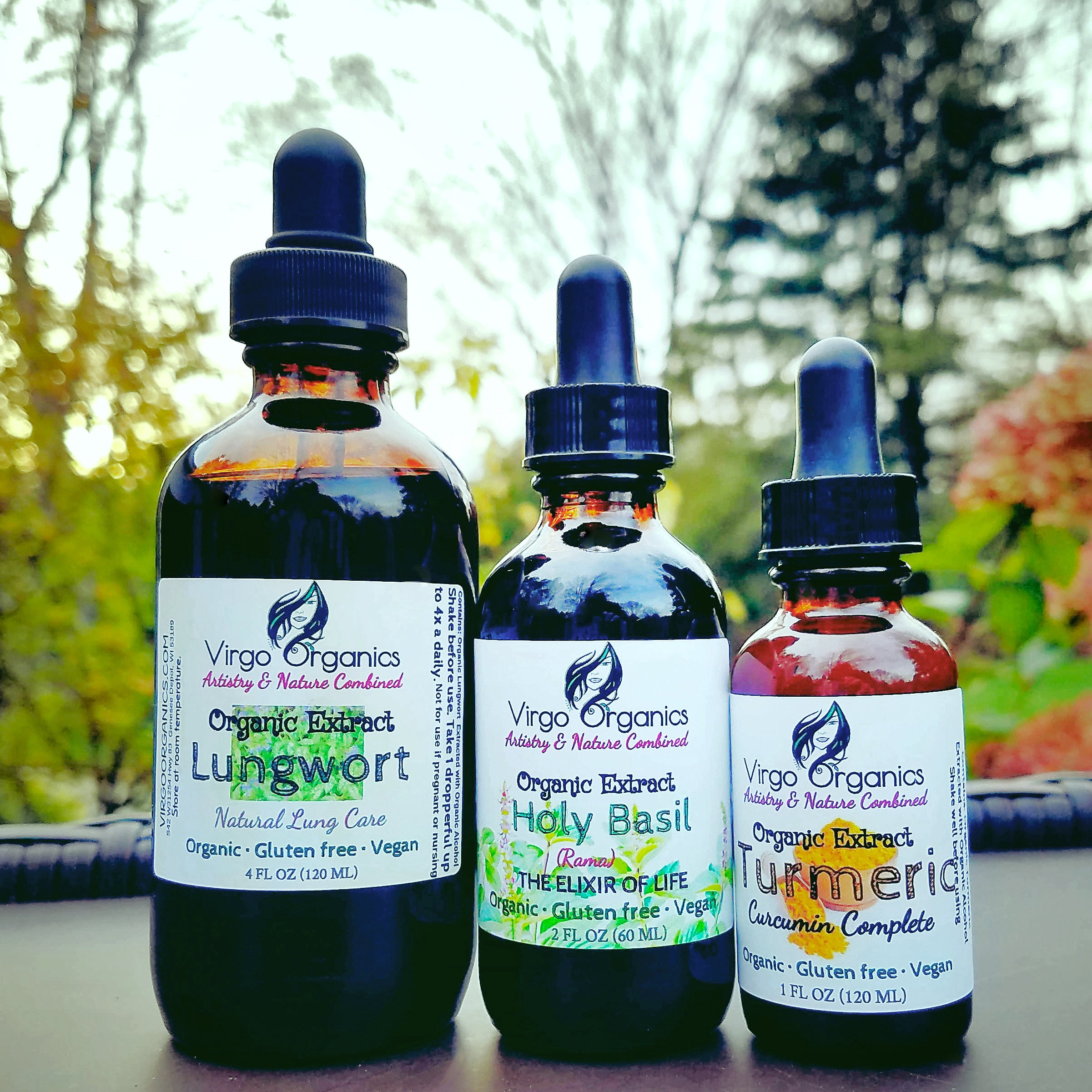 Organic TRIO ~ Cold and Sinus Relief Tincture Set! / The