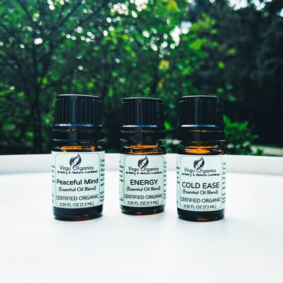 Signature Organic Essential Oil Blends  ~ 7.3 ML or 15 ML