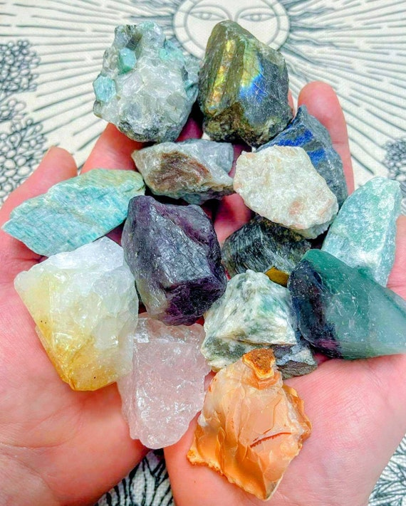 Raw Crystal Chunks / Rough Natural Stones / Reiki / Chakra / Wiccan / Spells / Crystal Healing / Positive Vibes / Many Kinds Available!