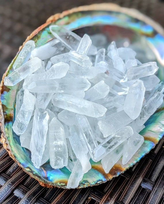 Raw Clear Quartz Points AAA Quality! / Master Healer Stone / BULK Small Points / 1 Pound / For Jewelry Making, Crafts, Candles, & More!