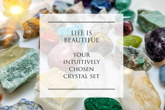 Intuitively Chosen Crystal Sets / Top Quality / For Reiki, Chakra, Decor, Wire Wrapping, & Witchcraft / Free Selenite Wand Cones w/ Each Set