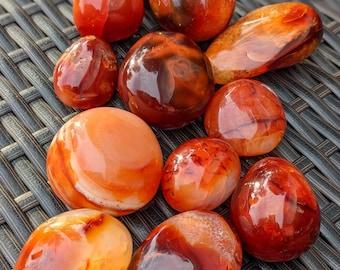 Carnelian Palm Stone / High Quality Polished Stone / Crystal Energy / Chakra Stone / Meditation Stone / Ethically Sourced