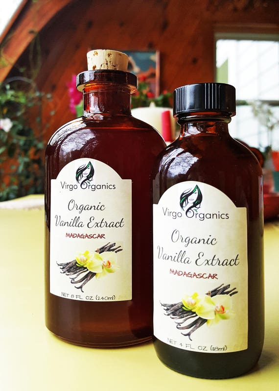 Pure Organic Vanilla Extract / Madagascar / Bourbon Vanilla Beans /Take Baking to a Whole Nother Level!