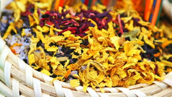 Uplifting Herbal Bath Tea by Virgo Organics ~ BULK / AROMATHERAPY / Passion Fruit / Gluten Free / Vegan / Organic