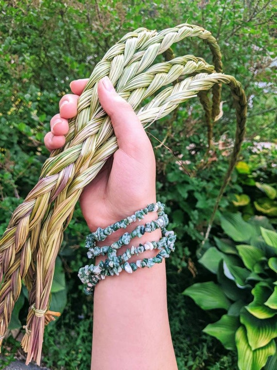 "Large Sweetgrass Braid / Traditional Native American Sweetgrass / 25-30"" Long"