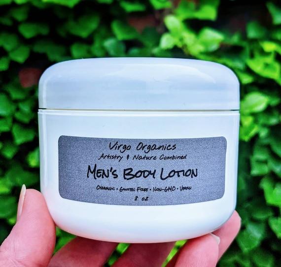 Men's Body Lotion / Organic Oils / Vegan / Gluten Free / Phthalate Free / Moisturizing / Non-Greasy / Your Skin Will Thank You!