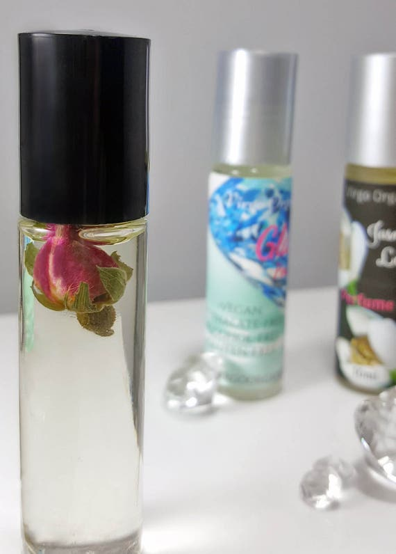 Organic Perfume Oil / VANILLA ROSE! / Alcohol Free / Vegan / Gluten Free / Phthalate-free / True Organic Rose Essential Oil