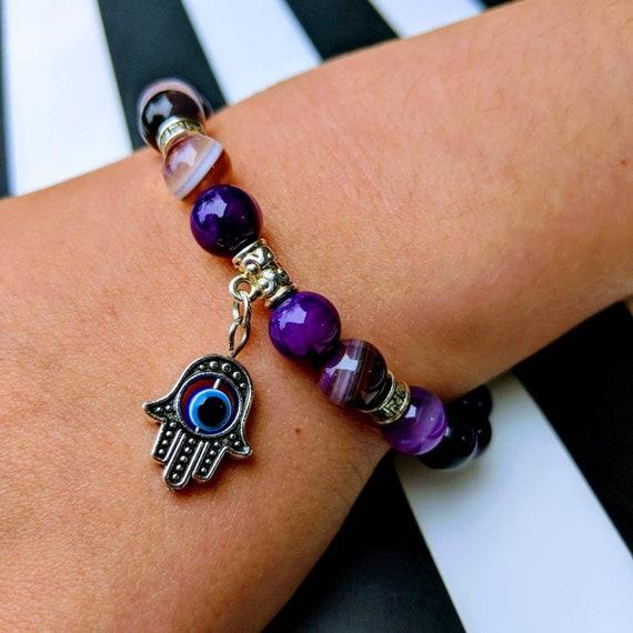 Purple Agate Fatima Bracelet