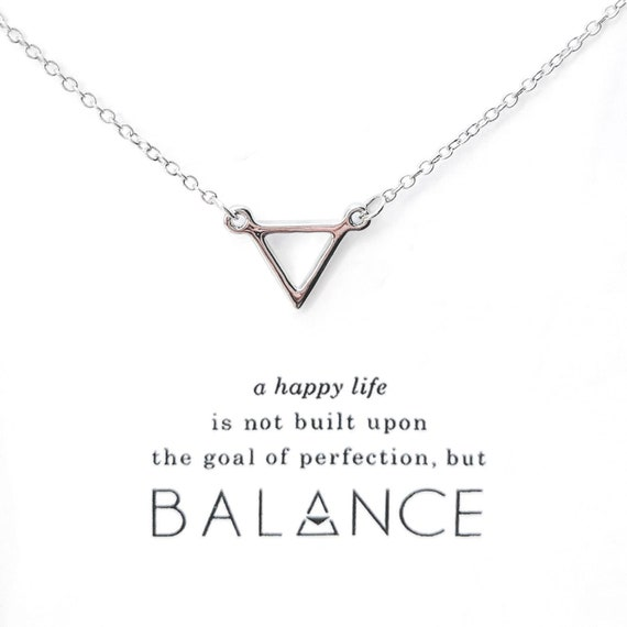 Silver Balance Necklace ~ Simplest