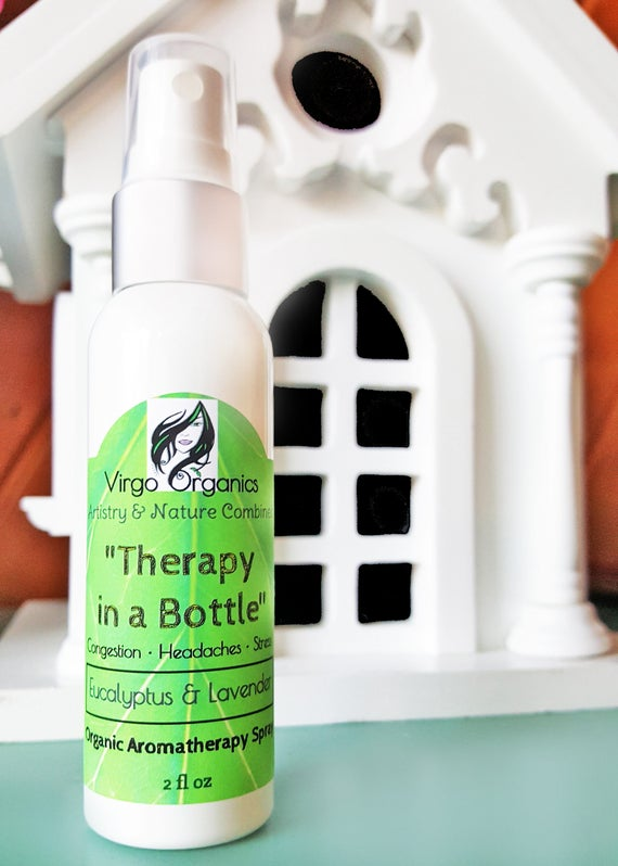 Organic AROMATHERAPY Mists ~ 7 Different Blends /Shower or Room Spritz / Great For Soothing Sinuses, Relaxing, Energizing, & MORE!