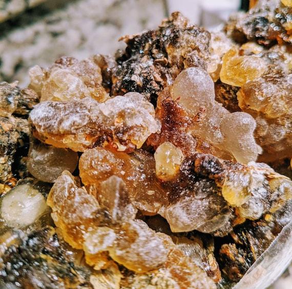 "On SALE!- FRESH Organic Premium Frankincense / Black Mughsyail Sacral- ""Black Sticky""/ Luban Resin Boswellia Sacra/ Oman / Large"
