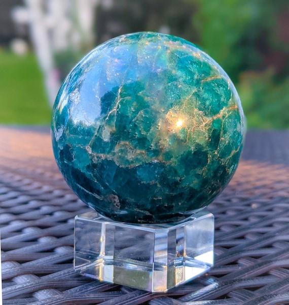 Apatite Sphere / Blue Apatite / High Quality Polished Stone / Crystal Ball / Meditation Stone / Crystal Energy / Manifestation / Positivity