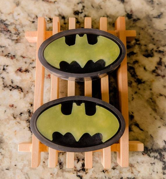 Comic Soap Sets! Joker, Batman, Superman, Spiderman / Transformers / Comes w/ a Wooden Soap Tray / Organic Oils / Gluten Free / Vegan