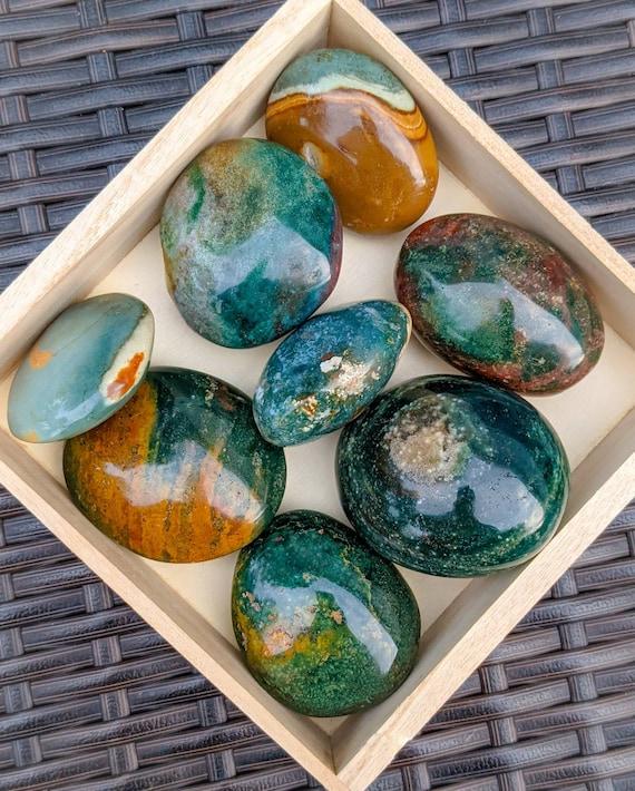 Ocean Jasper Palm Stone / High Quality / Polished / Crystal Healing / Chakra Stone / Meditation Stone / For a Sense of Calmness & Joy