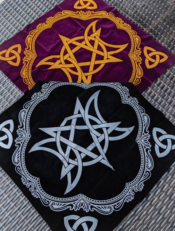 Alter Cloths / Triple Moon Goddess / Flower of Life / Constellation Calendar / For Your Sacred Space / Multiple Designs and Colors!