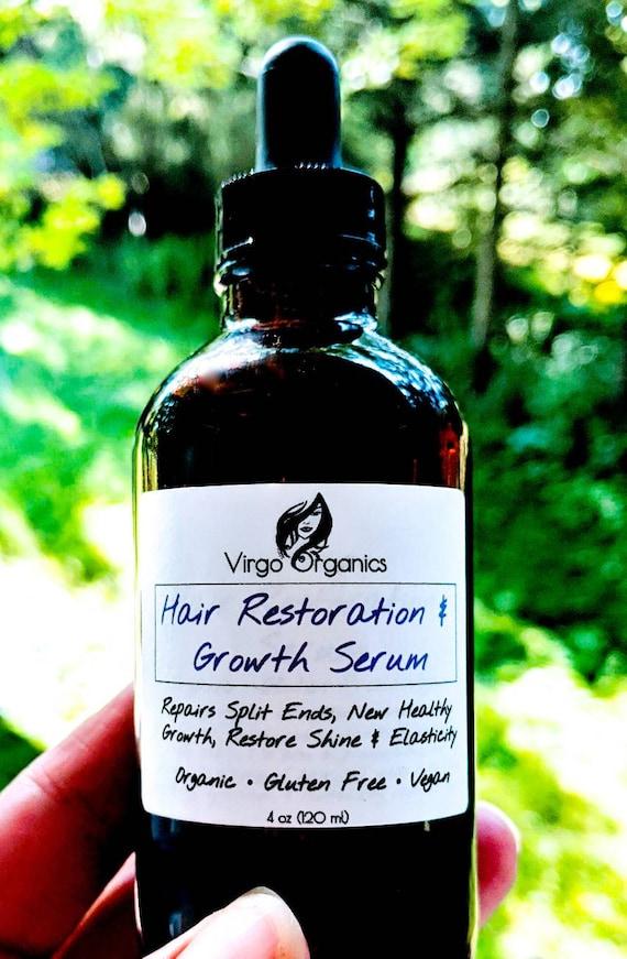 Organic Hair Growth Serum / Revitalize and Restore / Strengthen / For Healthy Hair & Scalp / Vegan / Gluten Free