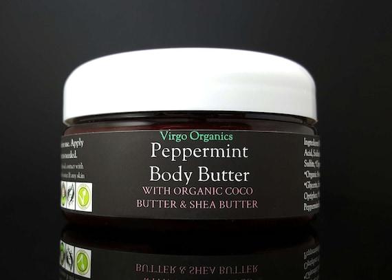 Peppermint ~ Organic Body Butter / Gluten Free / Vegan