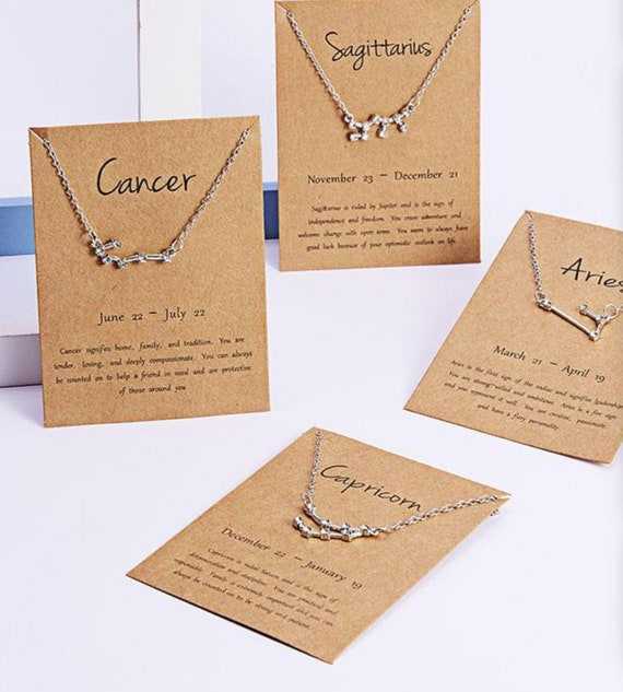 Constellation Necklaces / The Perfect Gift For Zodiac Enthusiasts /Stainless Steel / Adjustable / Lead & Nickel Free / Zicron Stars