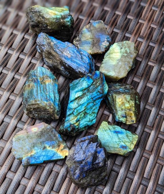 Natural Labradorite Stone / Raw Labradorite Crystal / Labradorite Chunk / Healing Crystals & Stones / Rough Labradorite / High Quality